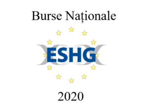 ESHG 2020: BURSE NATIONALE