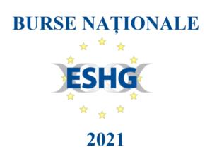 ESHG 2021: BURSE NAȚIONALE